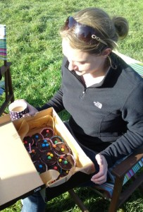 A few of my favourite things: camping, friends, sunshine, tea & cake for breakfast!