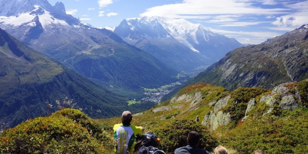 Chilling with a mountain view, Tour du Mont Blanc