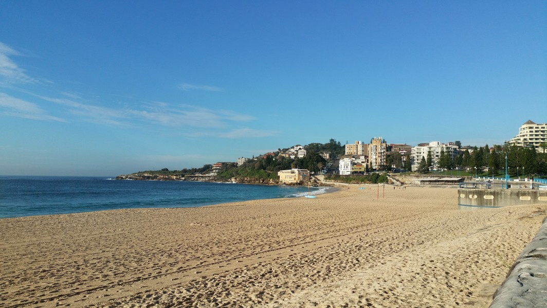 The gorgeous Coogee beach where I have been doing most of my swimming